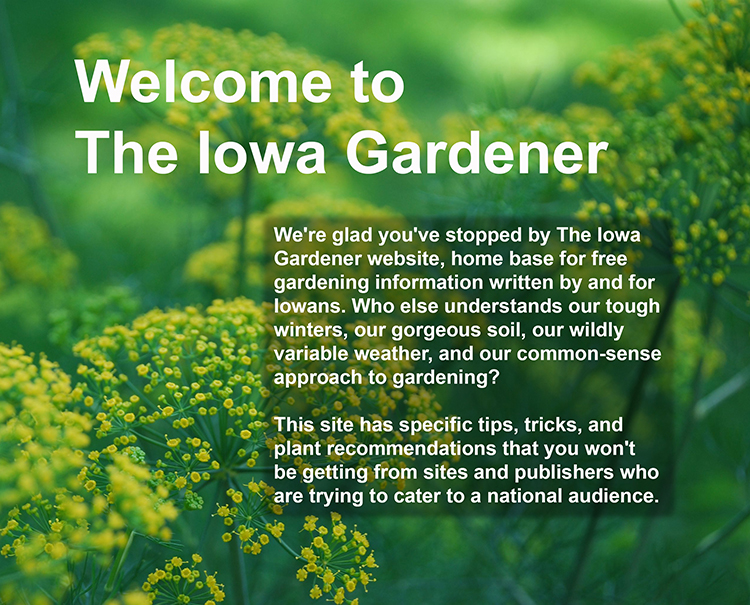 Welcome to The Iowa Gardener